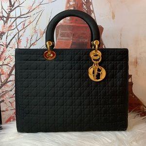 Lasy Dior Cannage Nylon Large bag